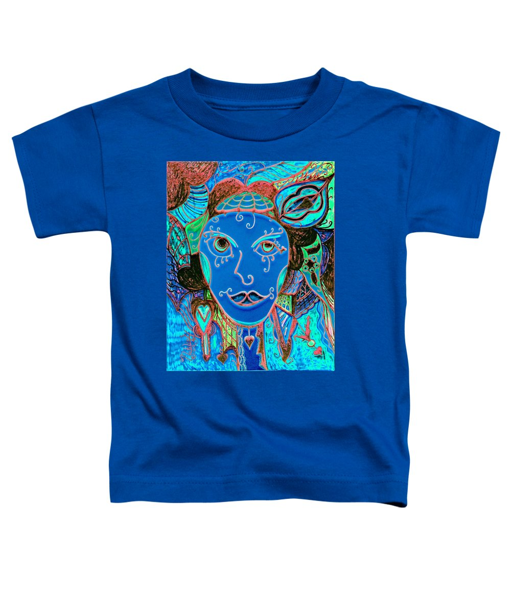 Party Girl Toddler T-Shirt featuring the painting Party Girl by Natalie Holland