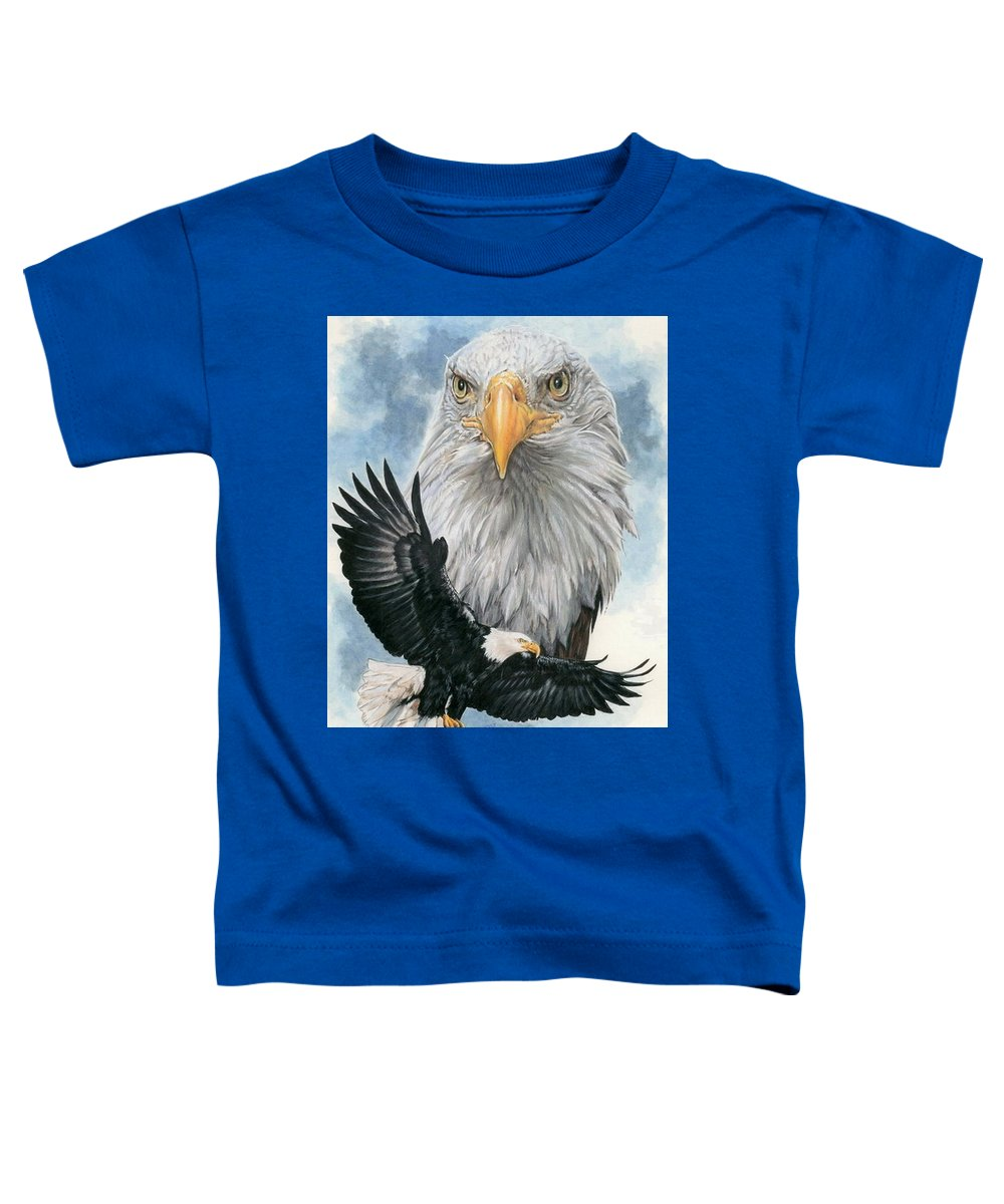 Bald Eagle Toddler T-Shirt featuring the mixed media Peerless by Barbara Keith