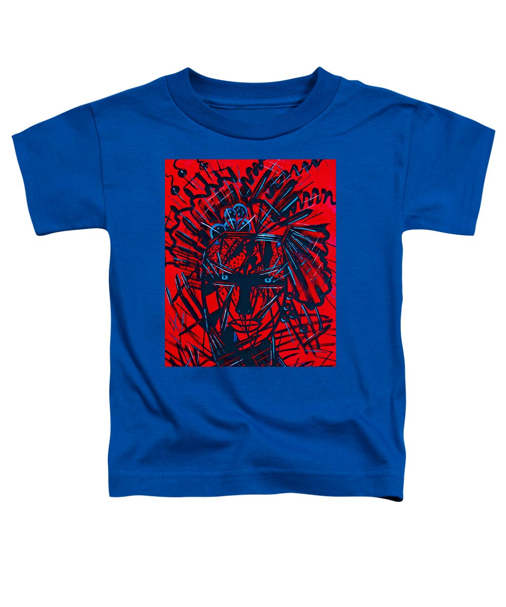 Abstract Toddler T-Shirt featuring the painting Red Exotica by Natalie Holland
