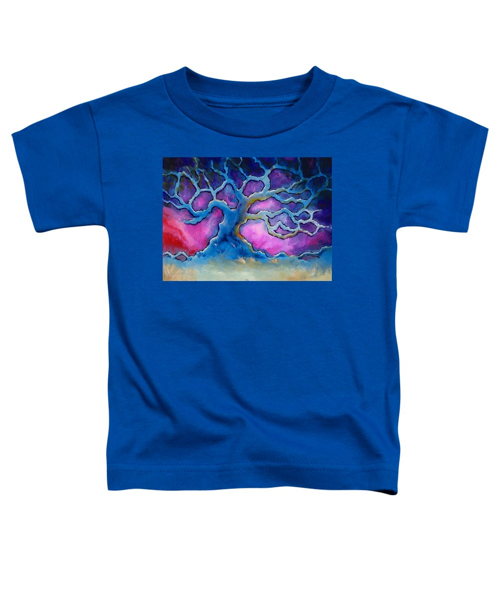 Landscape Toddler T-Shirt featuring the painting Ria by Jennifer McDuffie