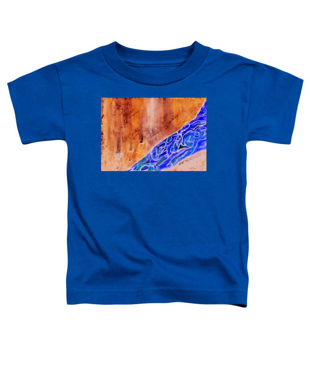 Life Flow River Water People Birth Toddler T-Shirt featuring the mixed media River Of Life by Veronica Jackson