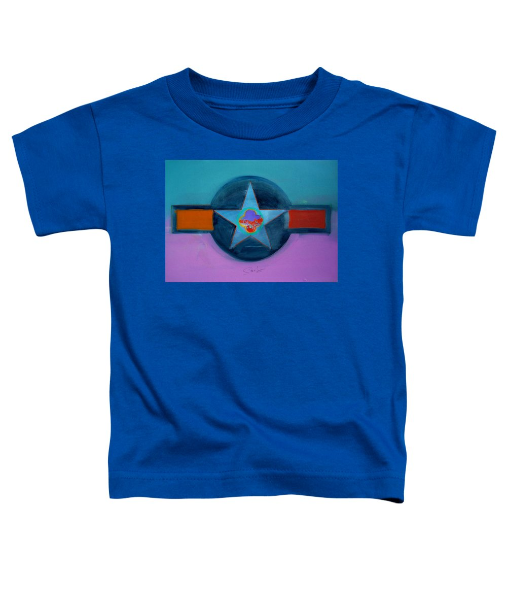 Star Toddler T-Shirt featuring the painting Rust Or Bust by Charles Stuart