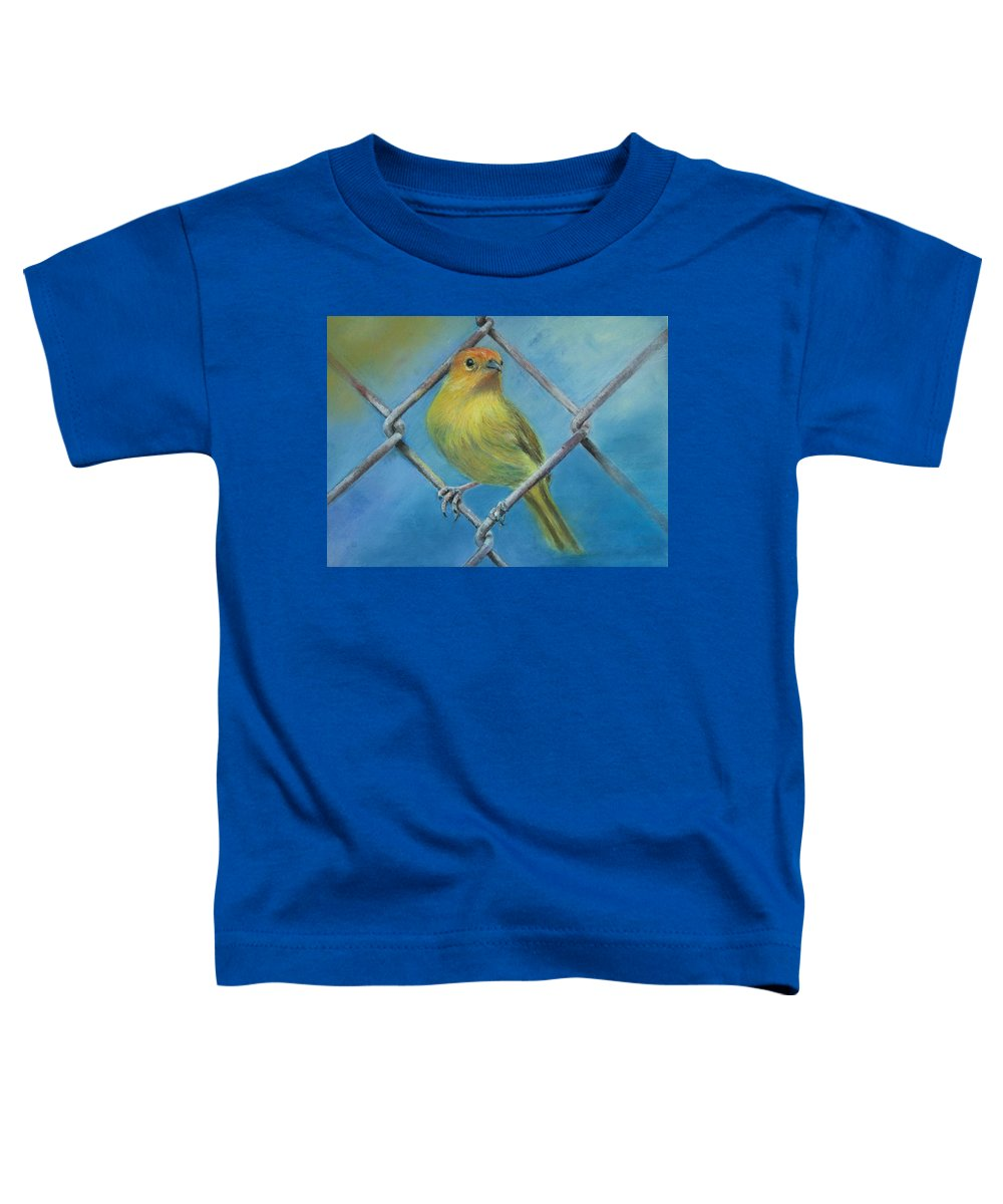 Bird Toddler T-Shirt featuring the painting Safron Finch by Ceci Watson