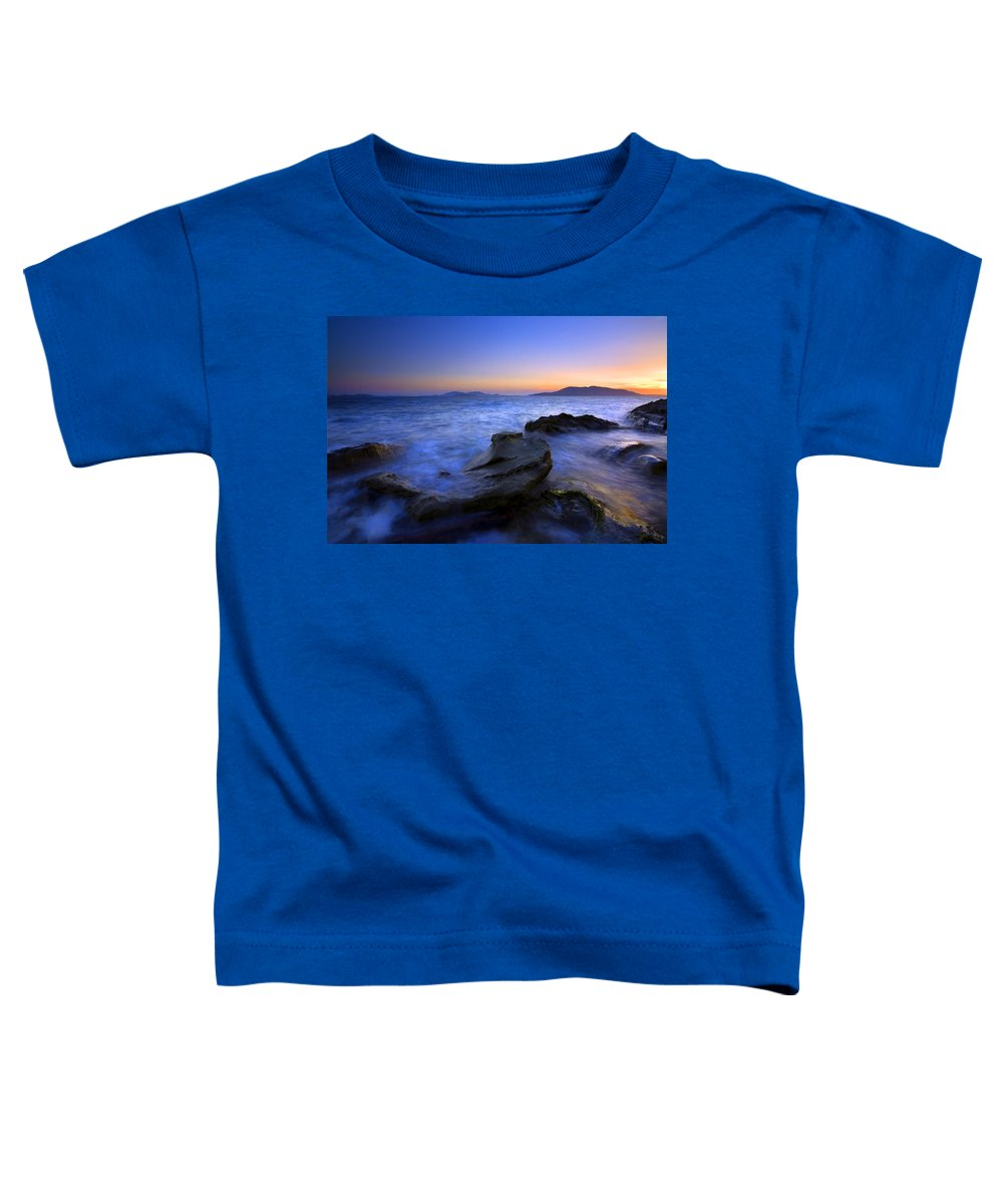 Sunset Toddler T-Shirt featuring the photograph San Juan Sunset by Mike Dawson
