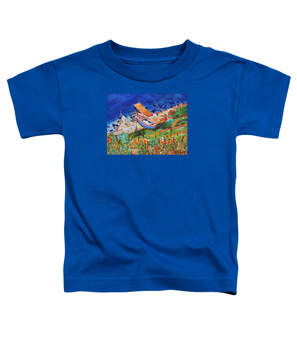 Seascape Toddler T-Shirt featuring the painting Seacoast by Iliyan Bozhanov