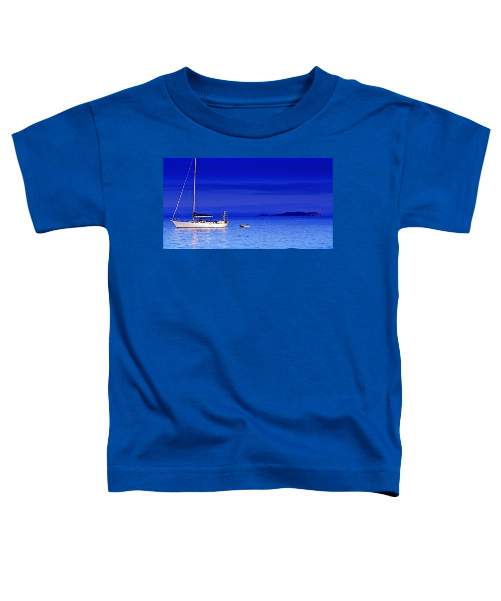 Transportation. Boats Toddler T-Shirt featuring the photograph Serene Seas by Holly Kempe