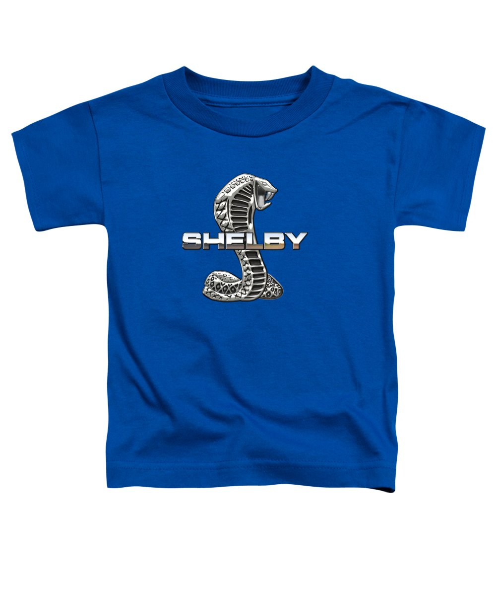 'auto Badges' Collection By Serge Averbukh Toddler T-Shirt featuring the photograph Shelby Cobra - 3D Badge by Serge Averbukh