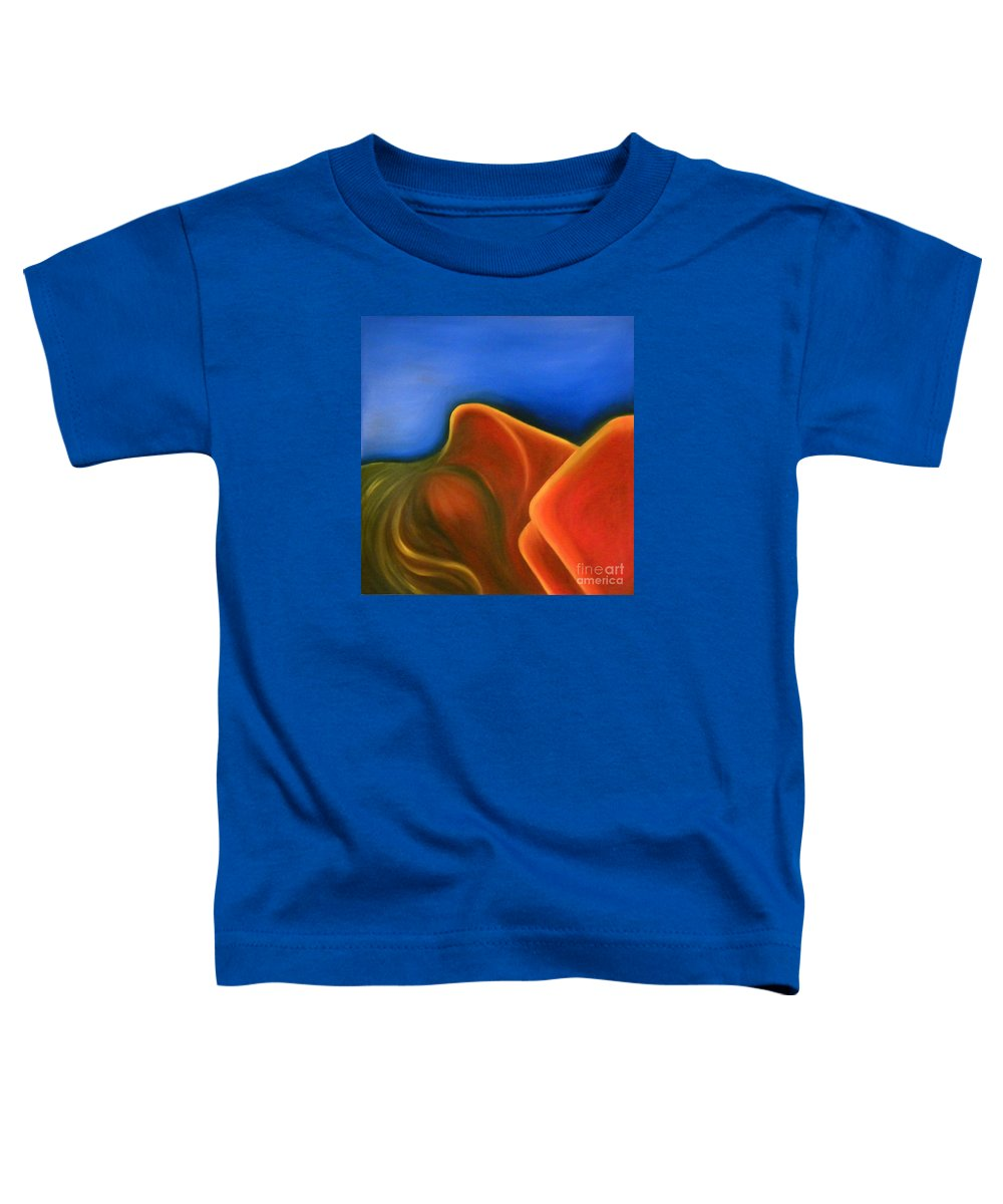 Woman Paintings Toddler T-Shirt featuring the painting Sinuous Curves Iv by Fanny Diaz