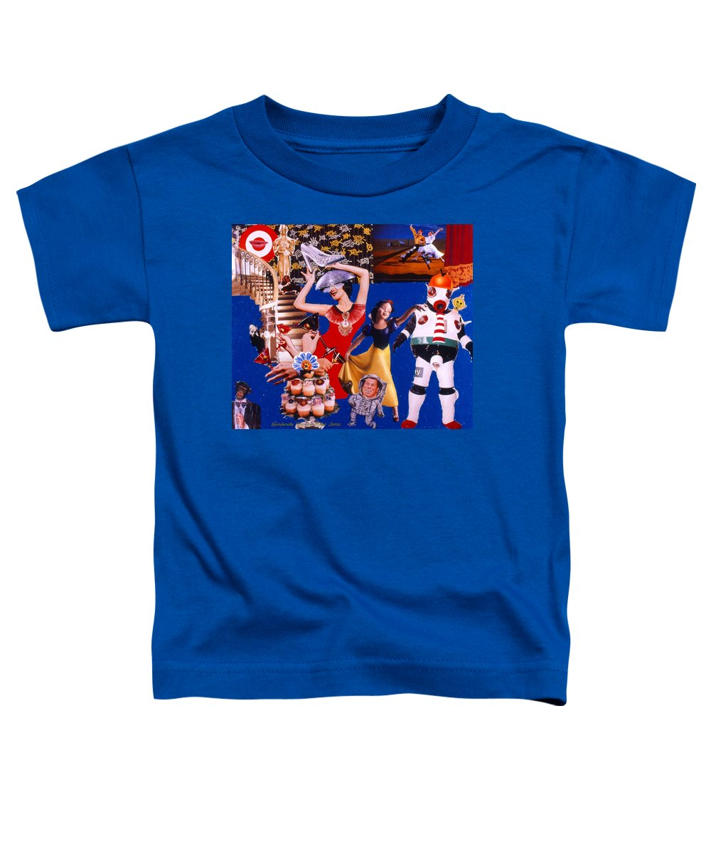 Surreal Toddler T-Shirt featuring the drawing Soap Scene #23 Oscar's Kiss Of Success by Minaz Jantz