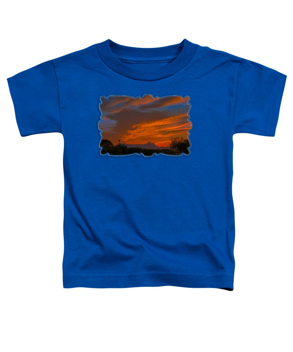 Arizona Toddler T-Shirt featuring the photograph Sombrero Peaks Sunset H9 by Mark Myhaver