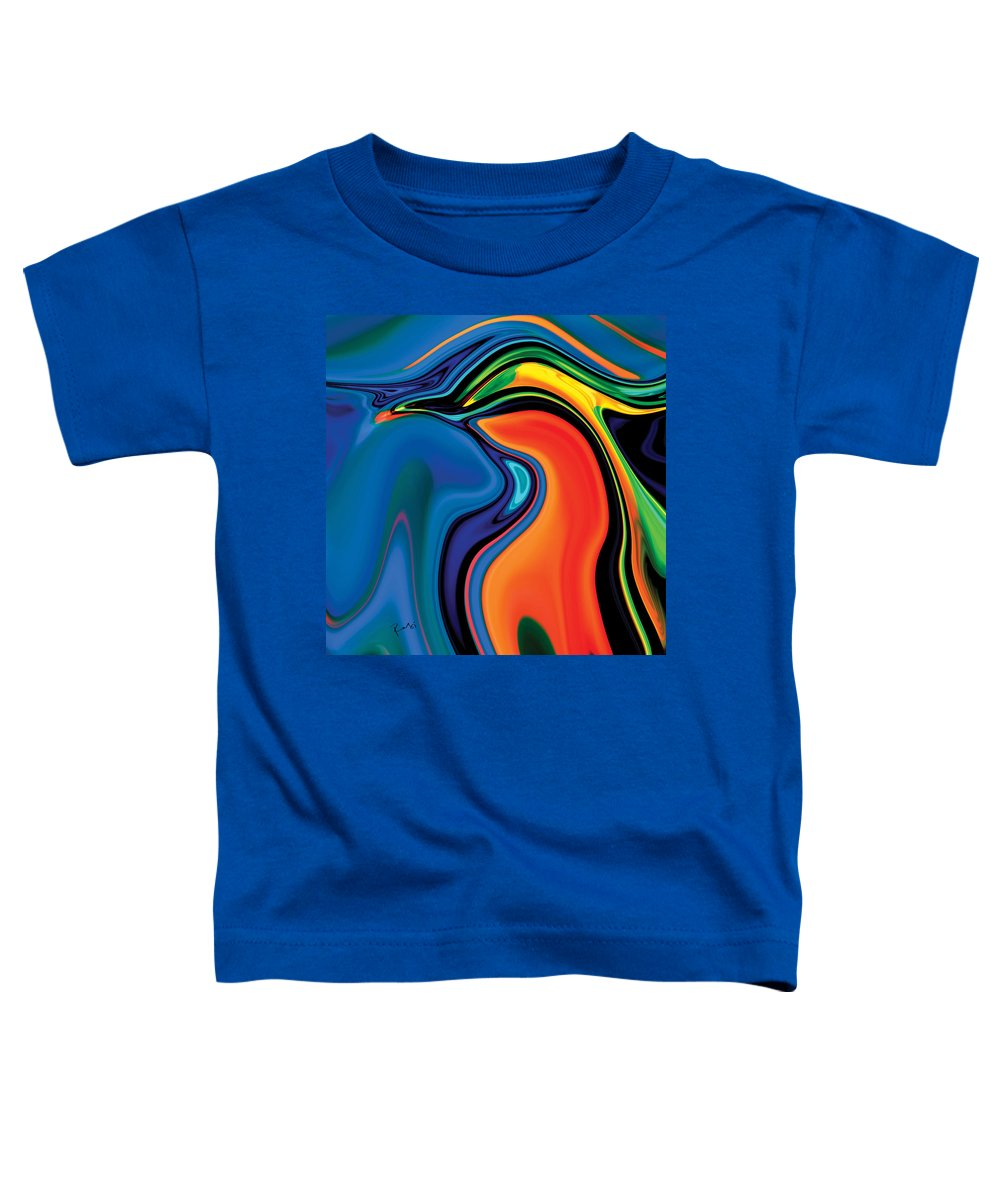 Abstract Toddler T-Shirt featuring the digital art Soul Bird 2 by Rabi Khan