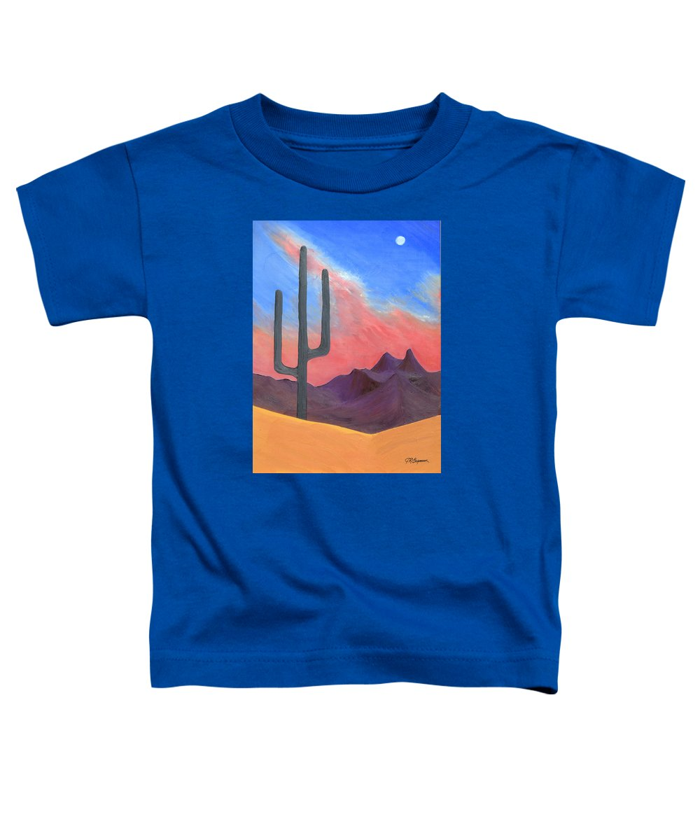 Cactus Toddler T-Shirt featuring the painting Southwest Scene by J R Seymour