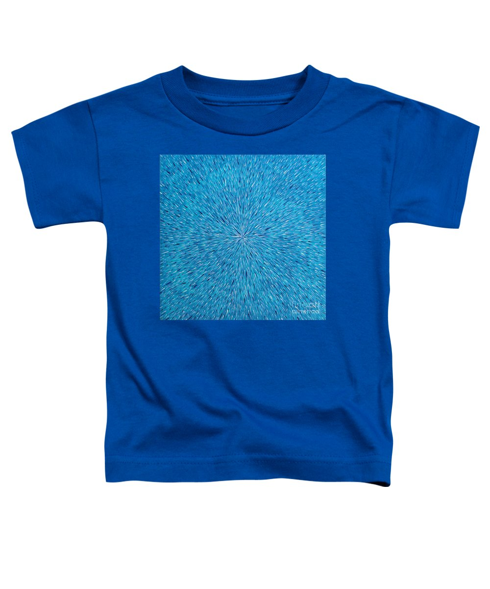 Abstract Toddler T-Shirt featuring the painting Su Gaia Rain by Dean Triolo