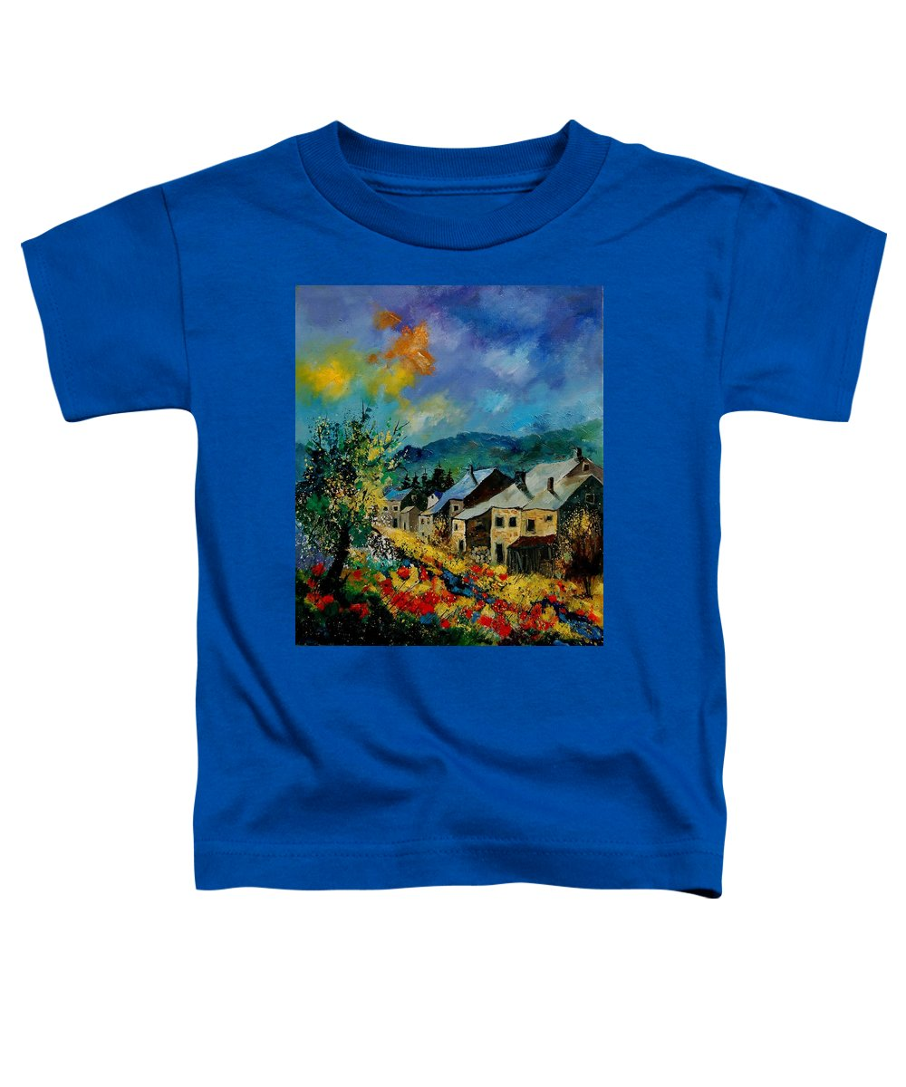 Poppies Toddler T-Shirt featuring the painting Summer In Mogimont by Pol Ledent
