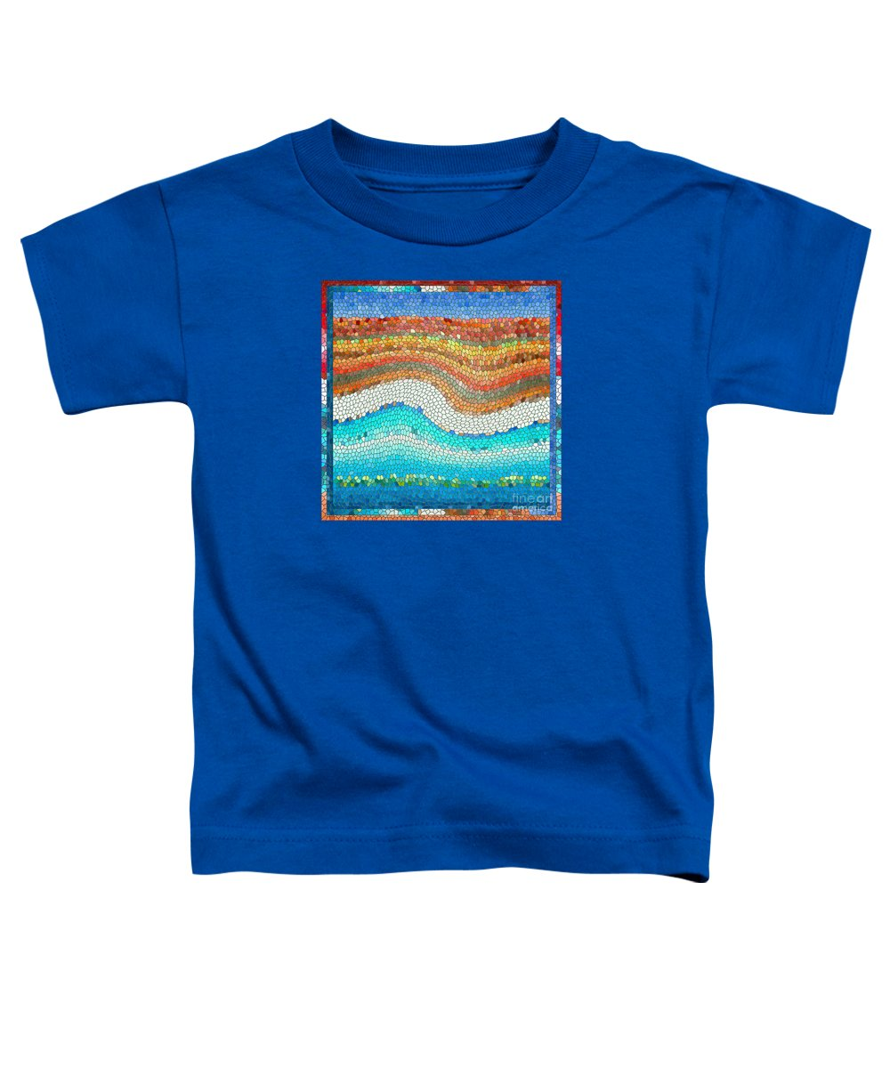 Colorful Toddler T-Shirt featuring the digital art Summer Mosaic by Melissa A Benson