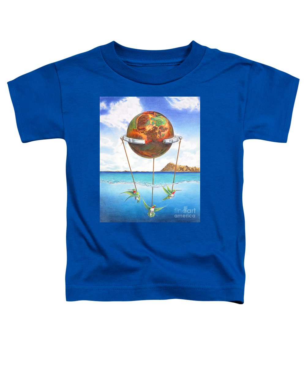 Surreal Toddler T-Shirt featuring the painting Tethered Sphere by Melissa A Benson