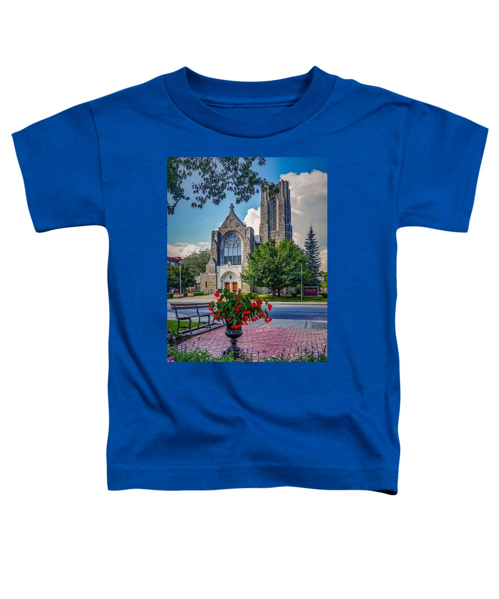 Toddler T-Shirt featuring the photograph The church in summer by Kendall McKernon
