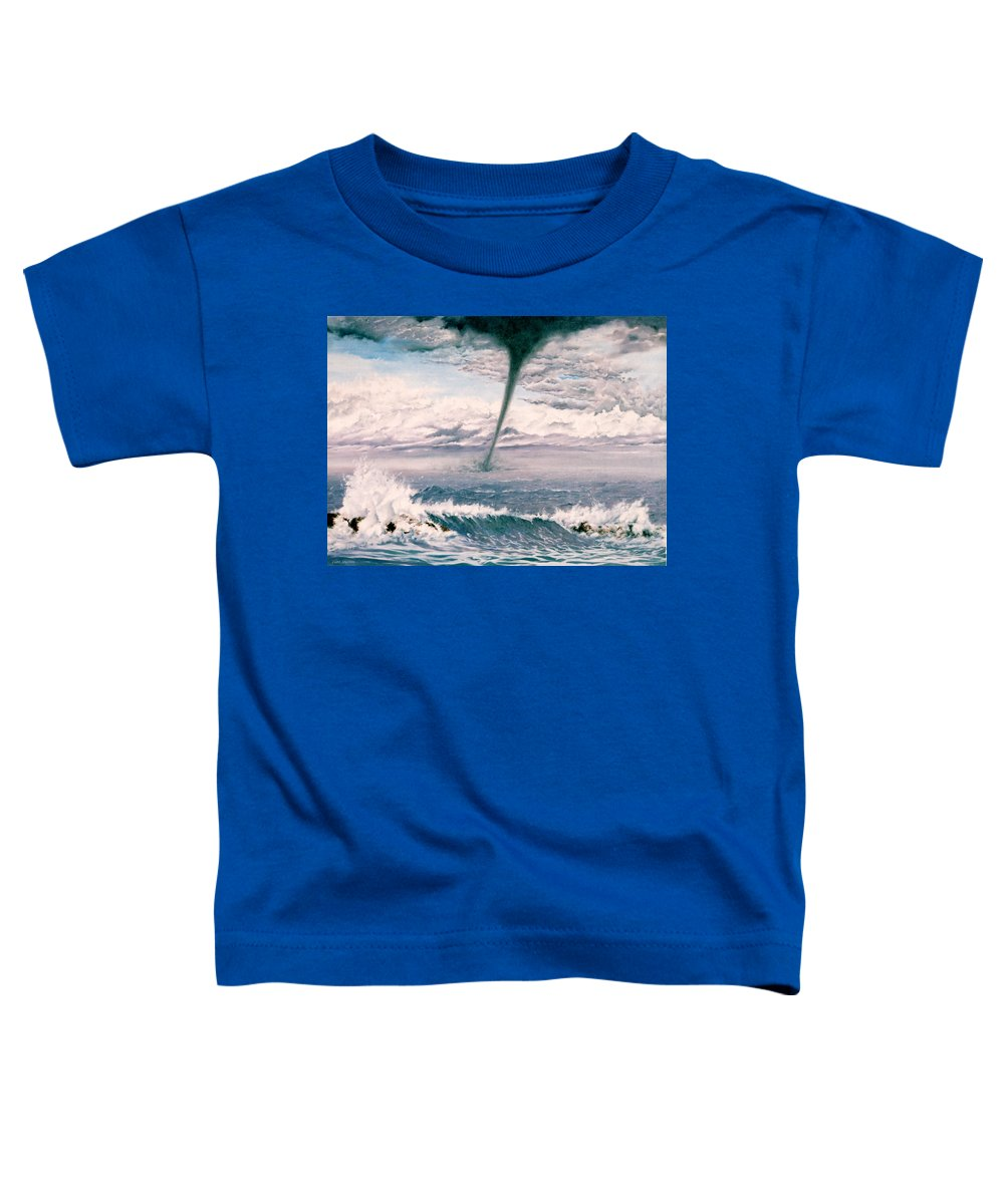Seascape Toddler T-Shirt featuring the painting Twisted Nature by Mark Cawood