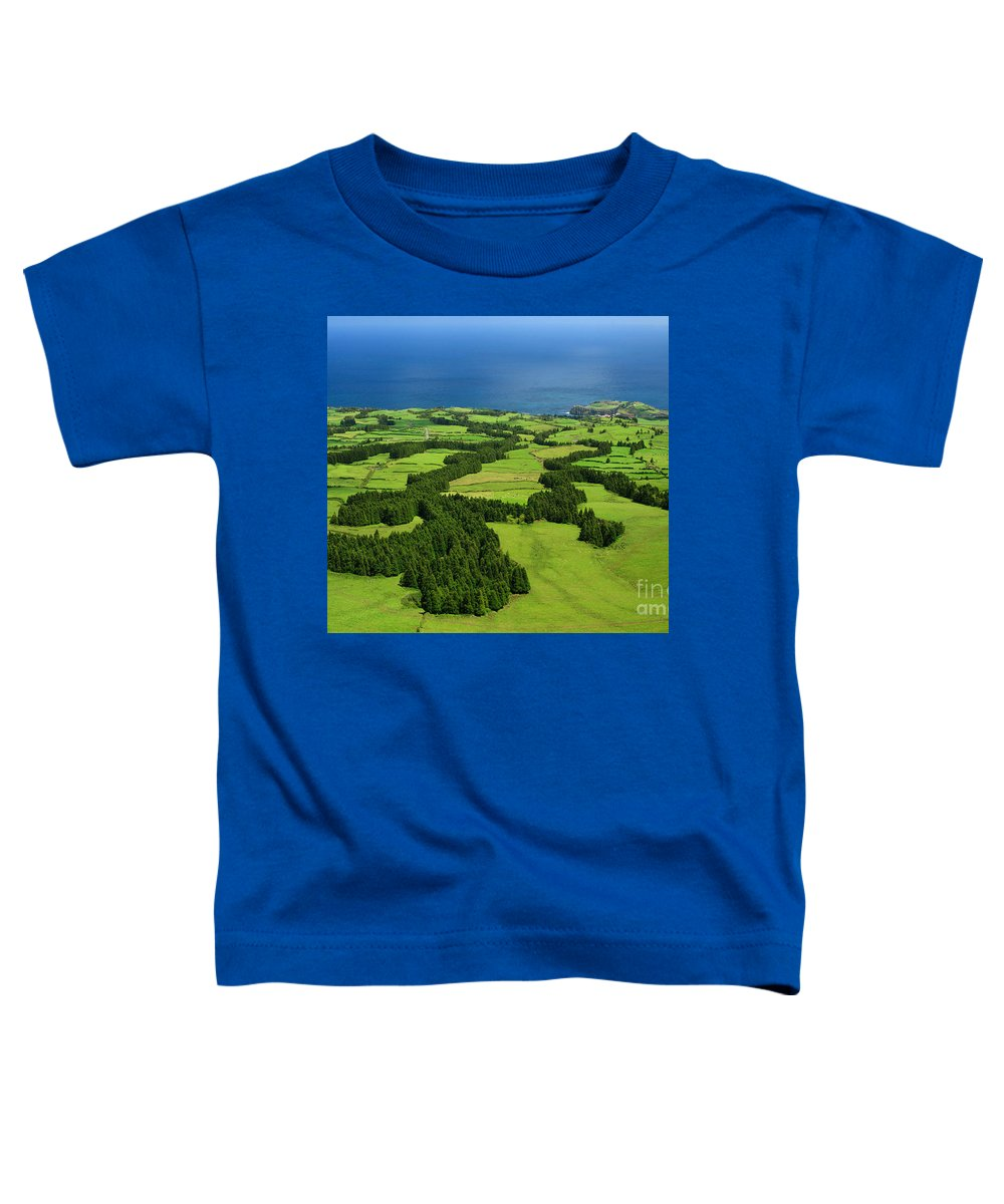 Landscape Toddler T-Shirt featuring the photograph Typical Azores Islands Landscape by Gaspar Avila