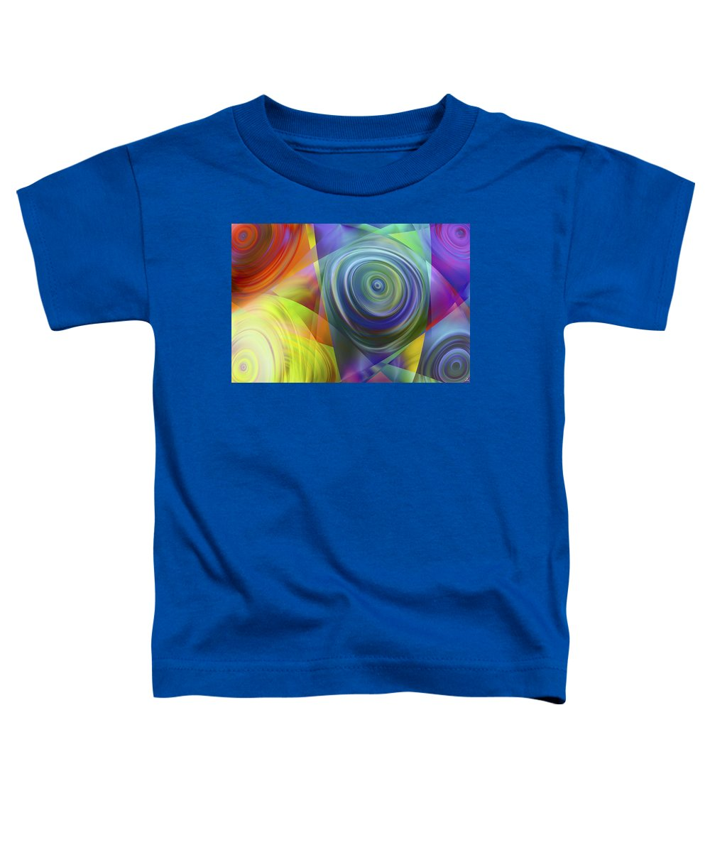 Colors Toddler T-Shirt featuring the digital art Vision 39 by Jacques Raffin