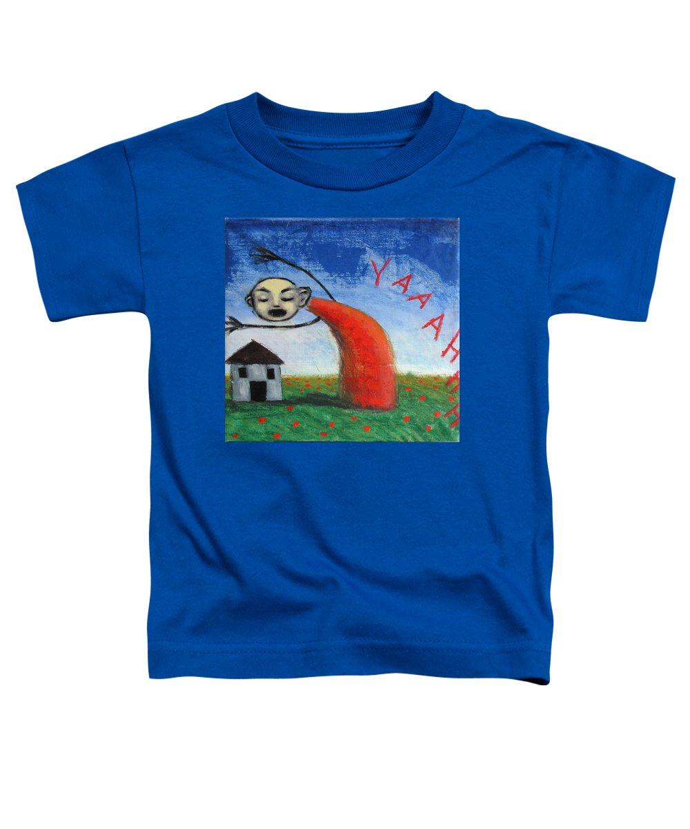 Figure Toddler T-Shirt featuring the painting Yaaahhh by Pauline Lim