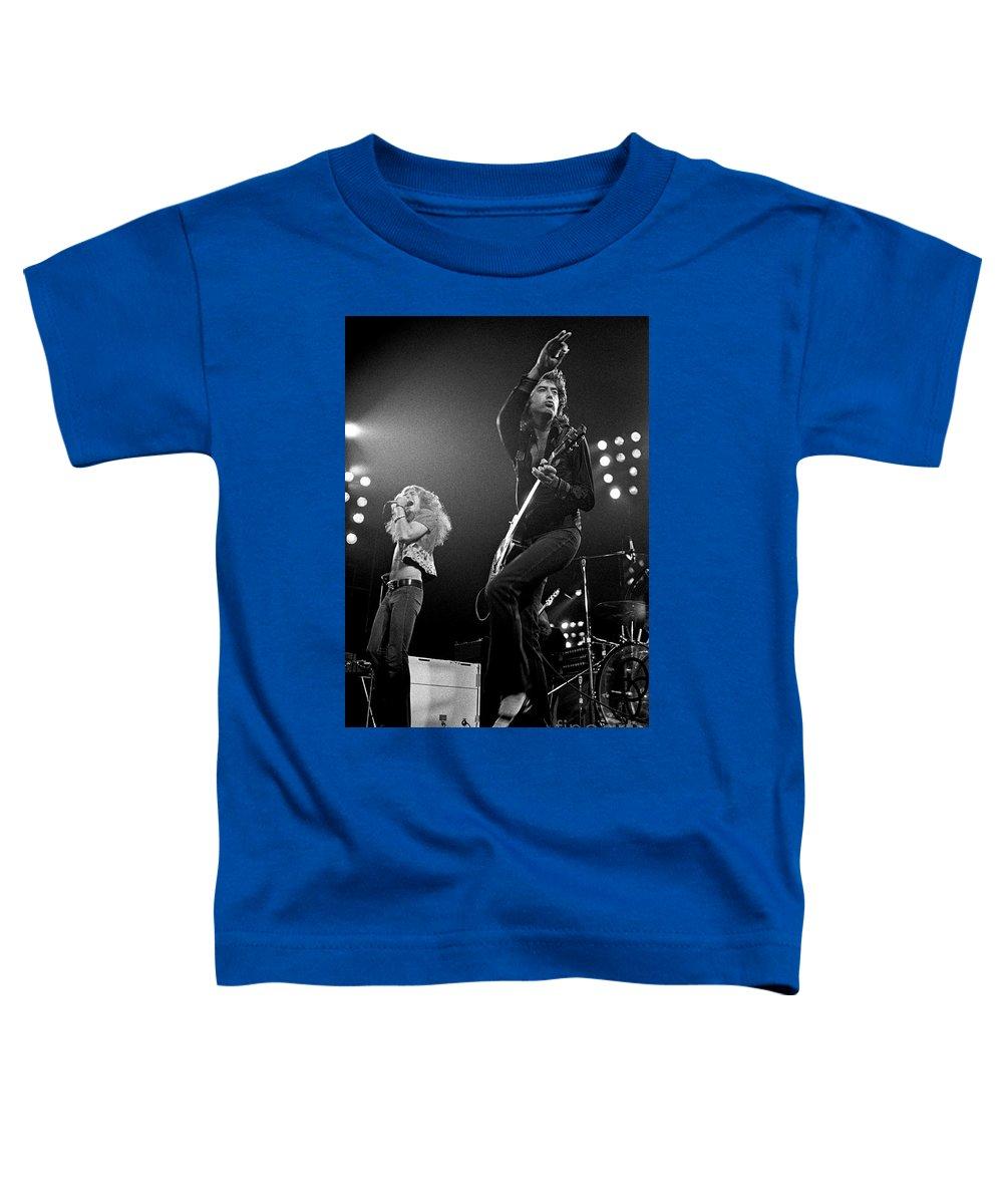 Robert Plant Toddler T-Shirt featuring the photograph Zeppelin Rocks by Pd