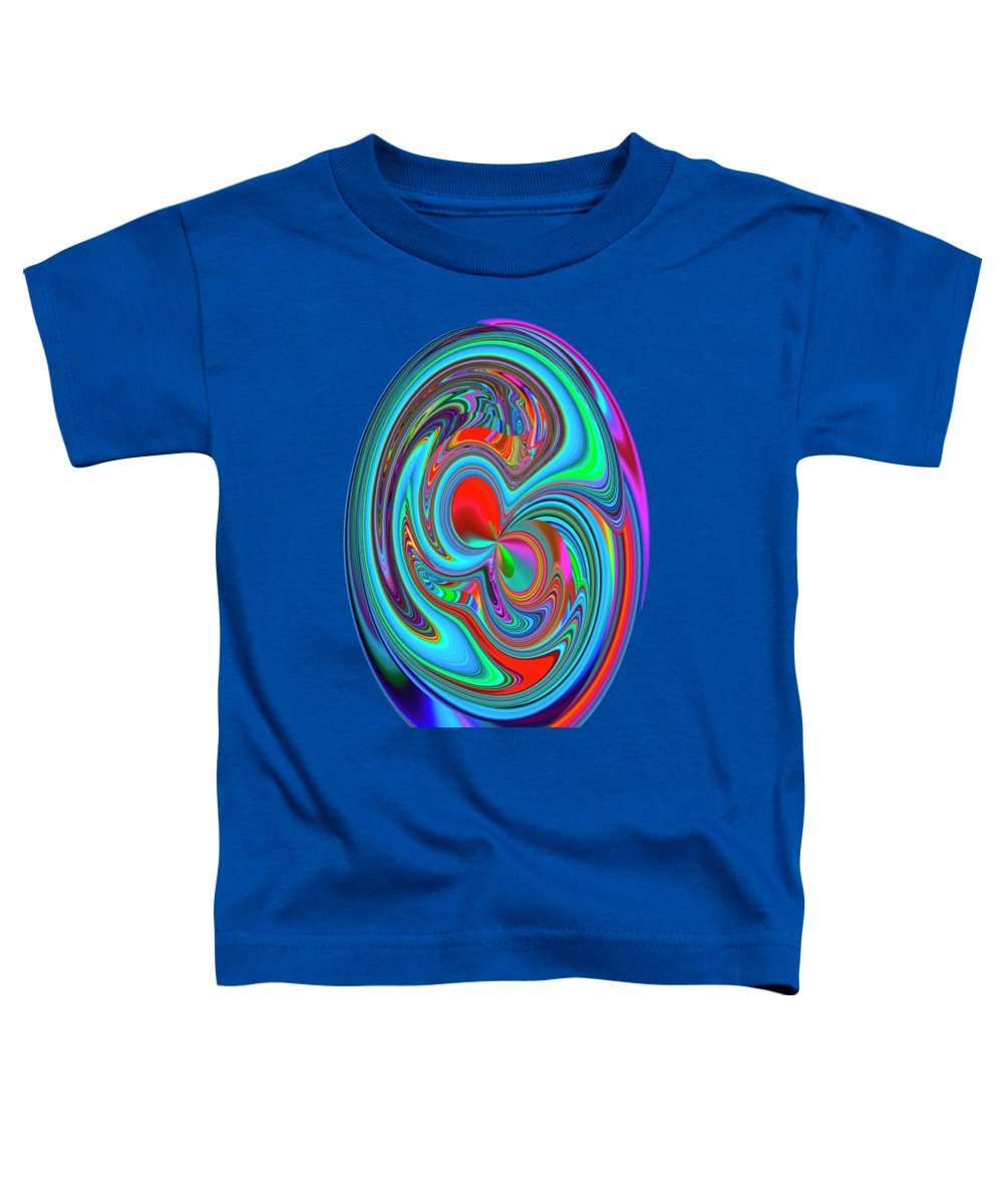 Surrealism Toddler T-Shirt featuring the mixed media Dream Planet 1 by Elena Gantchikova