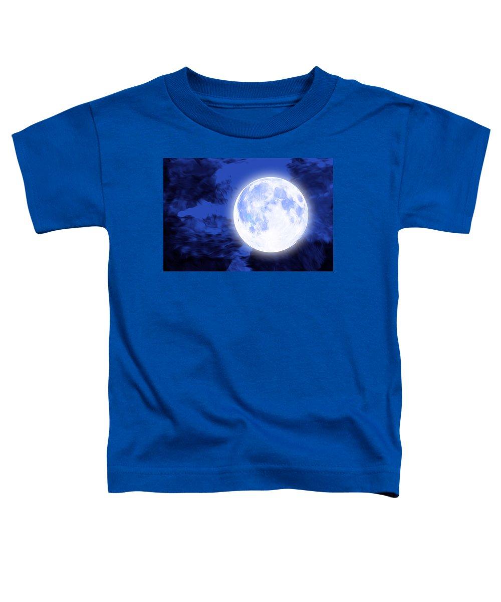 Moon Toddler T-Shirt featuring the digital art Moonlight by ArtMarketJapan