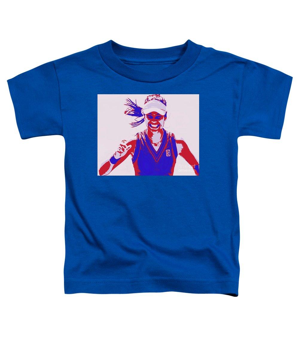 Raducanu Toddler T-Shirt featuring the painting Raducanu US Open by Jack Bunds