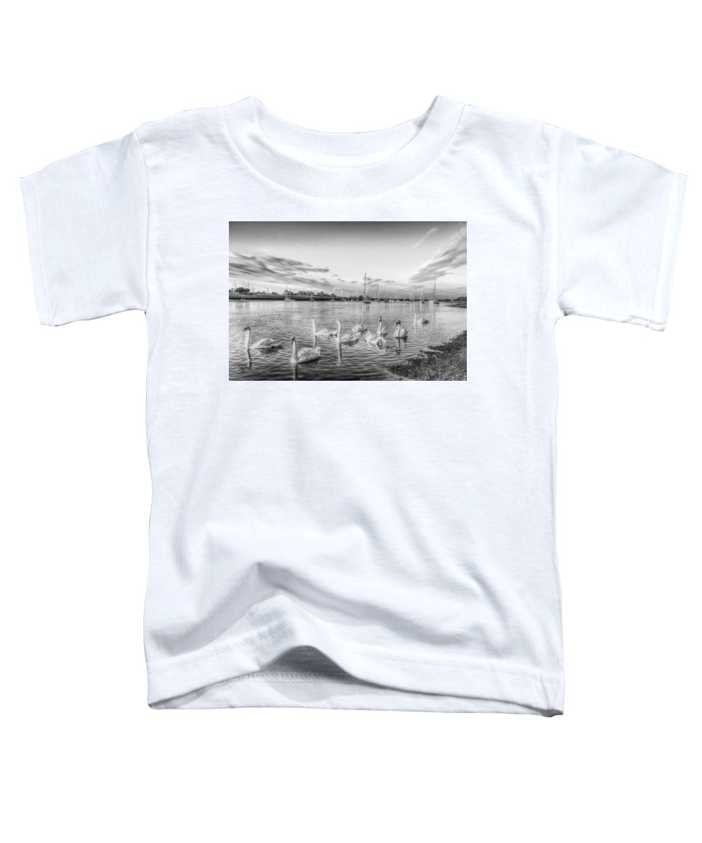 Swans Toddler T-Shirt featuring the photograph Graceful Swans by David Pyatt