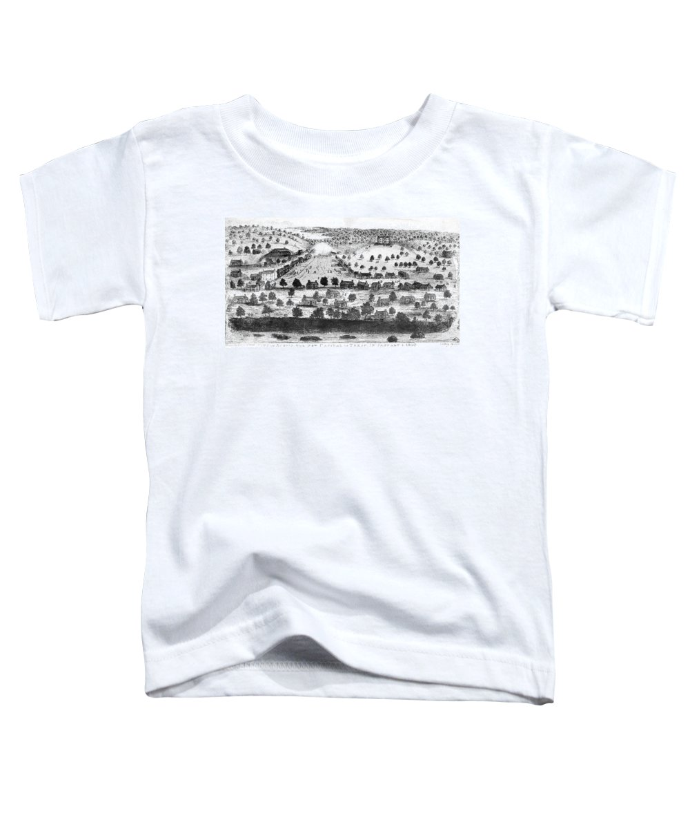 1840 Toddler T-Shirt featuring the painting Texas City Of Austin, 1840 1 by Granger