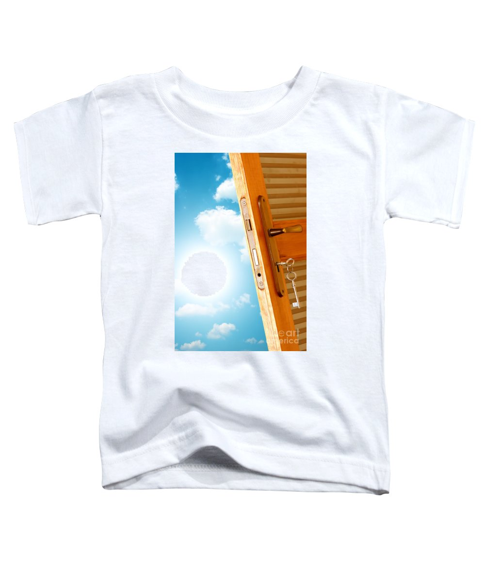 Air Toddler T-Shirt featuring the photograph Door To New World by Michal Bednarek