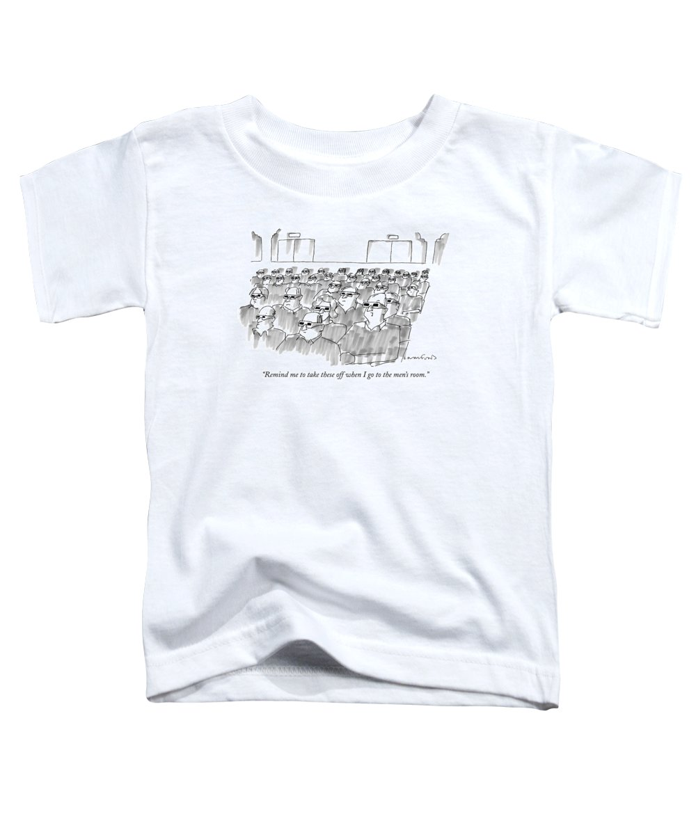 Senility Toddler T-Shirt featuring the drawing Remind Me To Take These Off When I Go by Michael Crawford