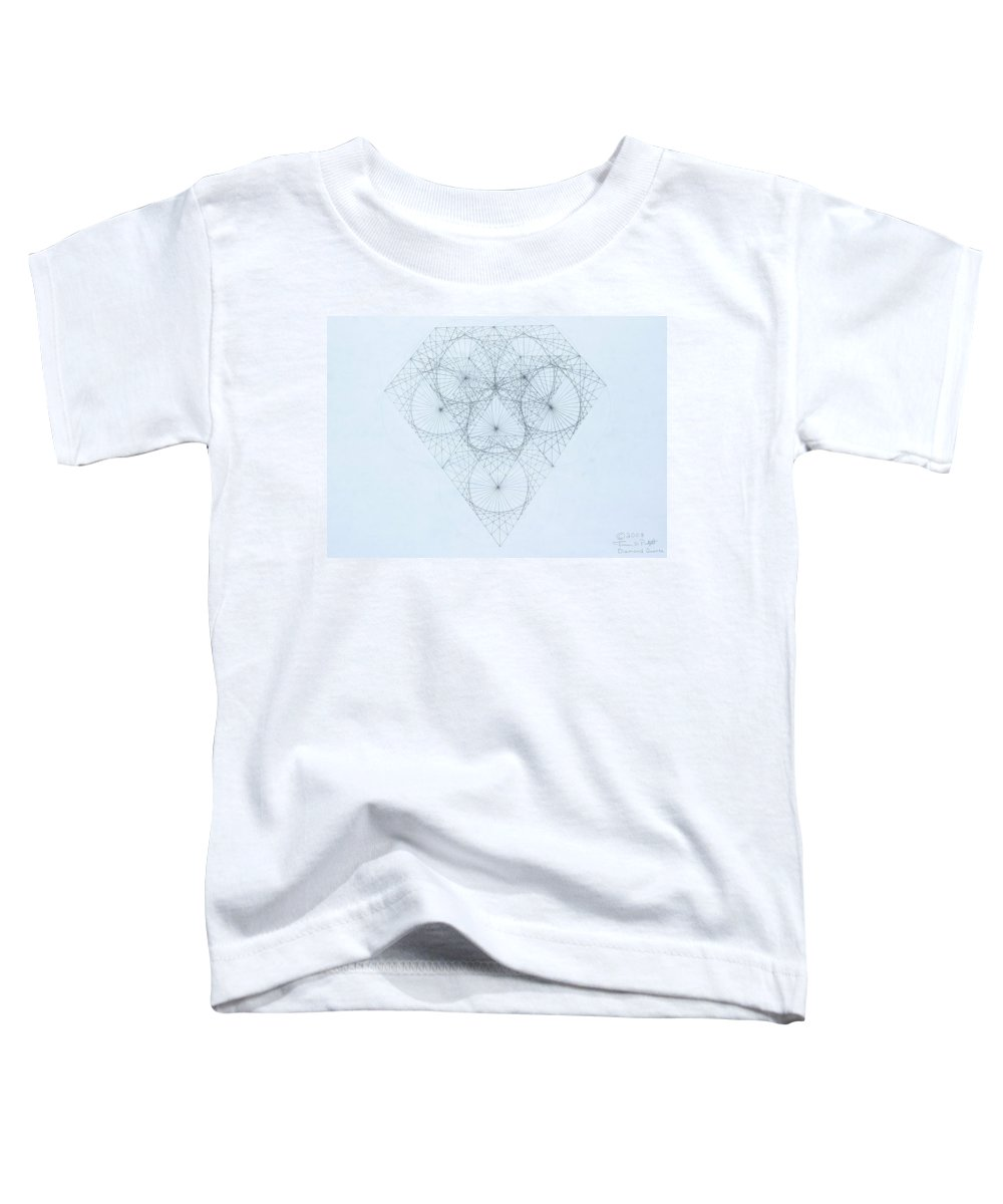 Jason Padgett Toddler T-Shirt featuring the drawing Diamond Quanta by Jason Padgett