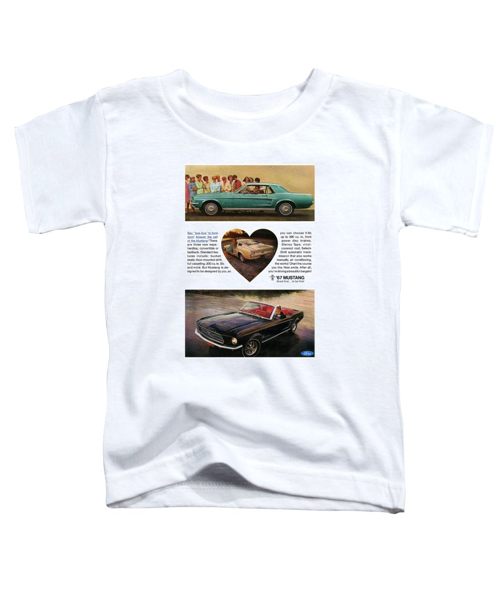 1964 Toddler T-Shirt featuring the digital art 1967 Ford Mustang by Digital Repro Depot