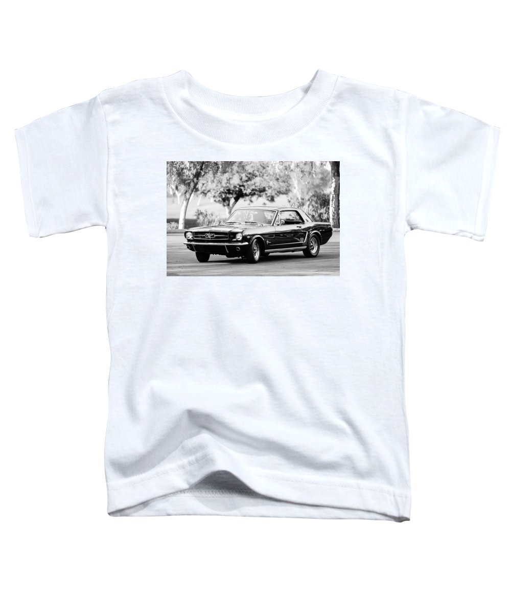 1965 Shelby Prototype Ford Mustang Toddler T-Shirt featuring the photograph 1965 Shelby Prototype Ford Mustang by Jill Reger