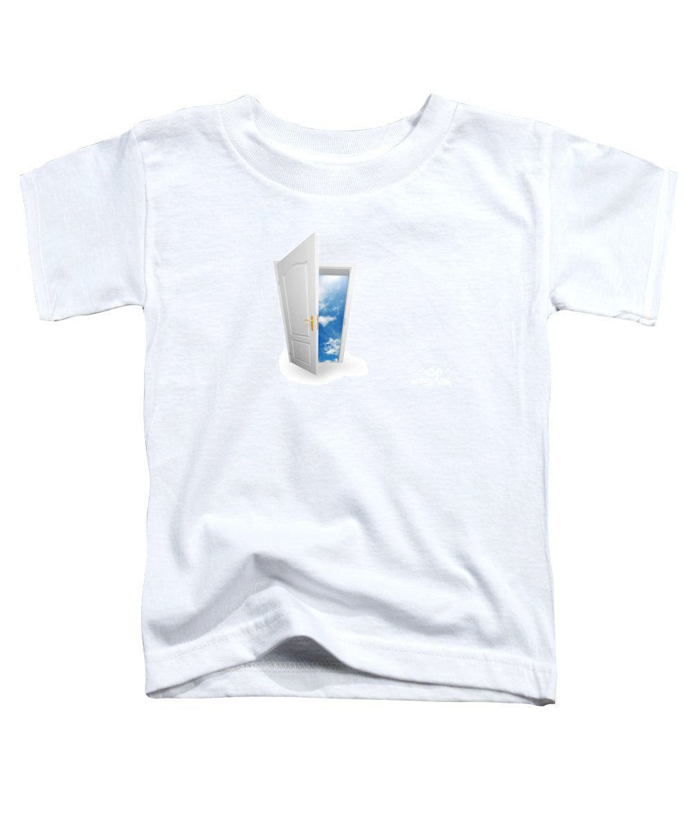 Success Toddler T-Shirt featuring the photograph Door To New World. by Michal Bednarek