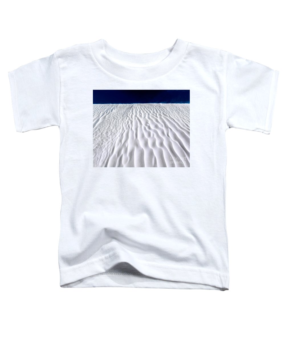 Desert Toddler T-Shirt featuring the photograph White Sands by Julian Cook