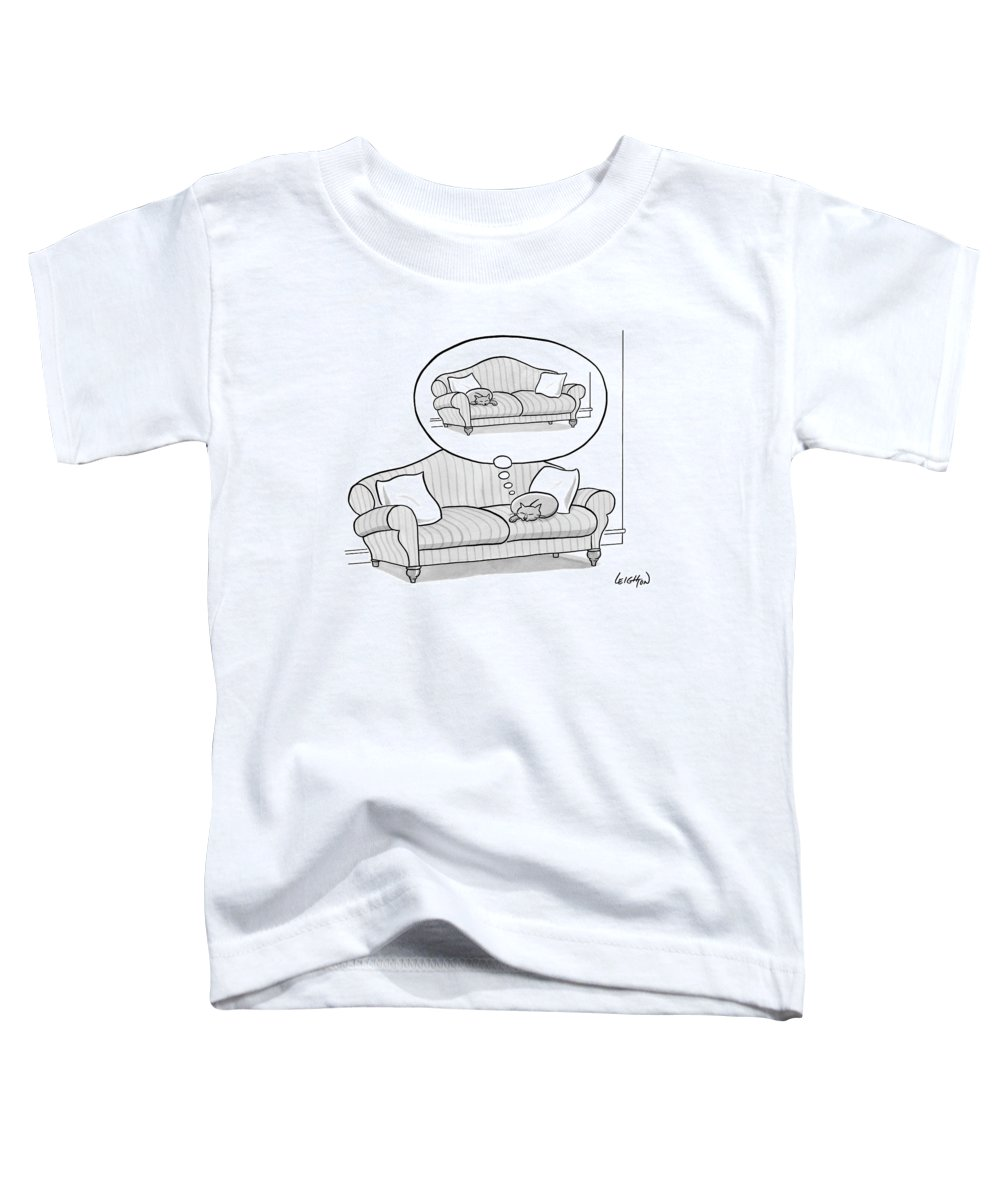 Cat Toddler T-Shirt featuring the drawing New Yorker November 6th, 2006 by Robert Leighton