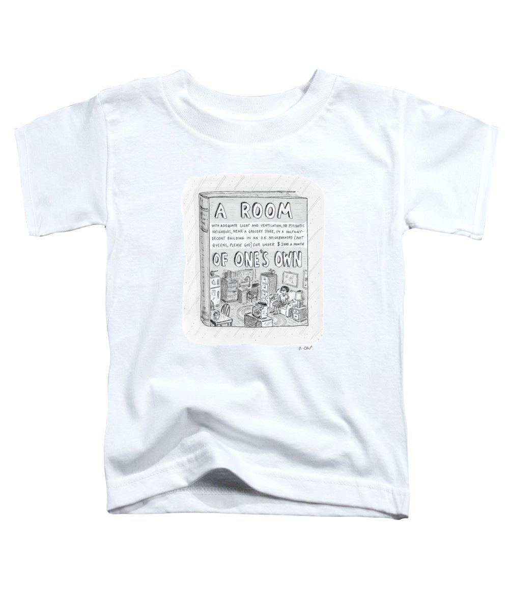 Book Toddler T-Shirt featuring the drawing New Yorker March 26th, 2007 by Roz Chast