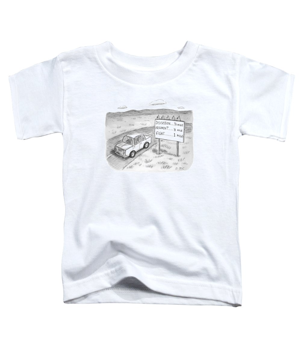 Argument Toddler T-Shirt featuring the drawing New Yorker August 1st, 2016 by Roz Chast