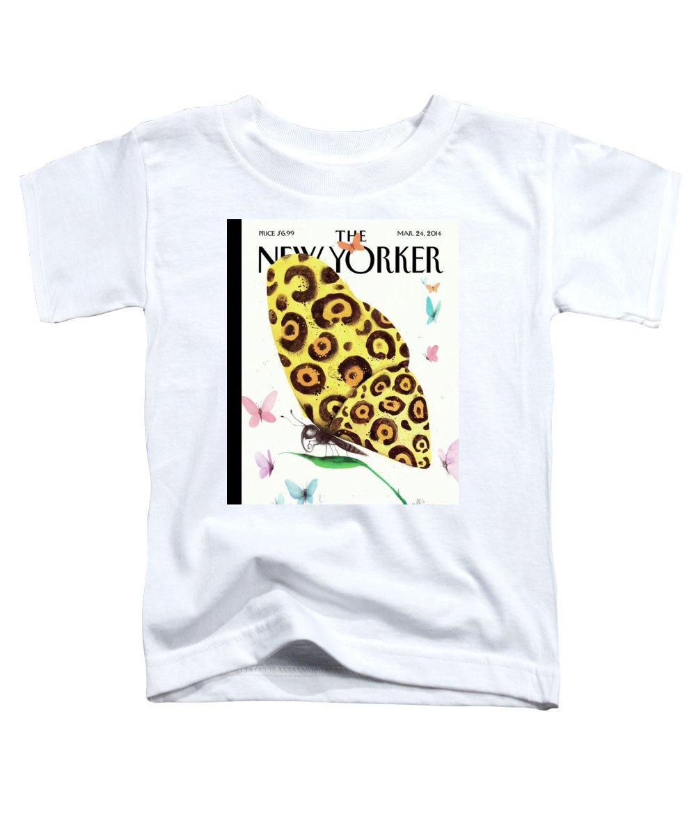 Animal Toddler T-Shirt featuring the painting Metamorphosis by Ana Juan