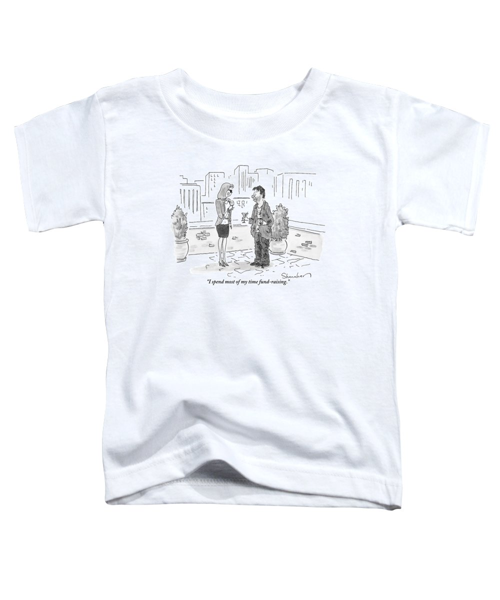 Beggars Toddler T-Shirt featuring the drawing A Dirty-looking Beggar Tries To Pick by Danny Shanahan
