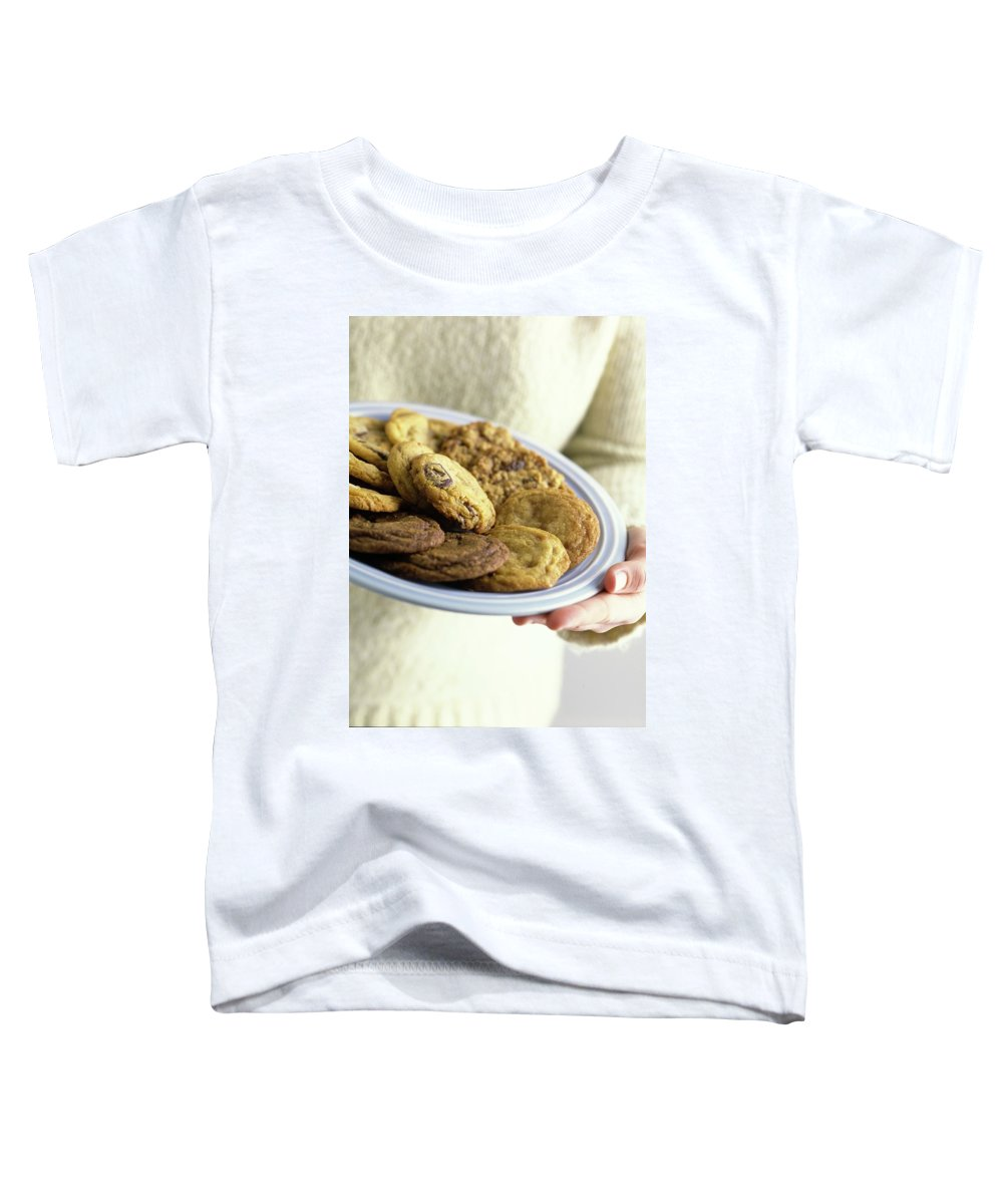 Cooking Toddler T-Shirt featuring the photograph A Plate Of Cookies by Romulo Yanes