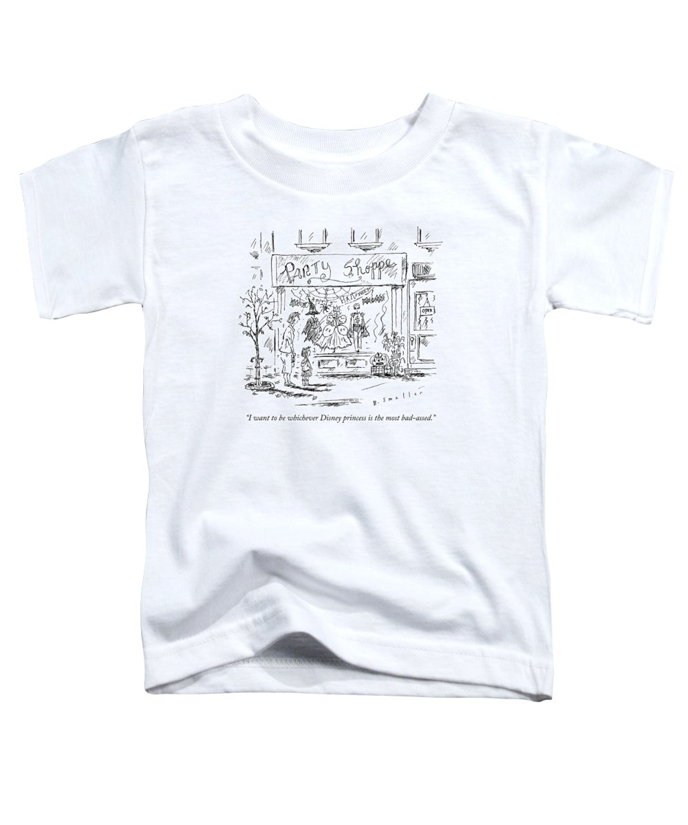 Halloween Toddler T-Shirt featuring the drawing A Young Girl Tells Her Mother by Barbara Smaller