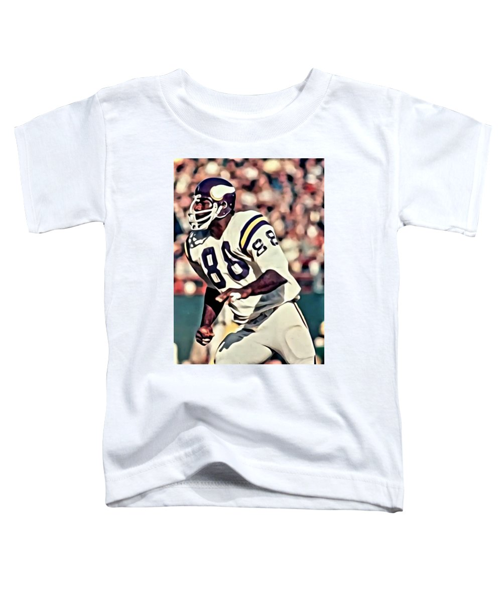 Alan Page Toddler T-Shirt featuring the painting Alan Page by Florian Rodarte