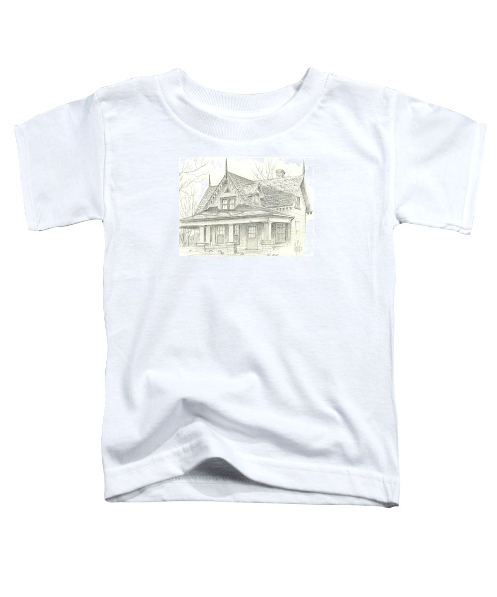 American Home Toddler T-Shirt featuring the drawing American Home by Kip DeVore