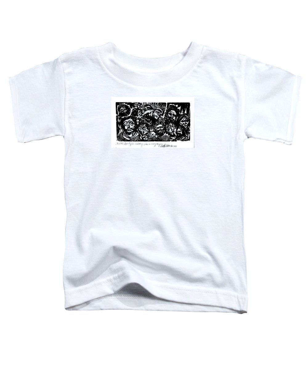 And The Spirit Fell Toddler T-Shirt featuring the mixed media And The Spirit Fell by Seth Weaver