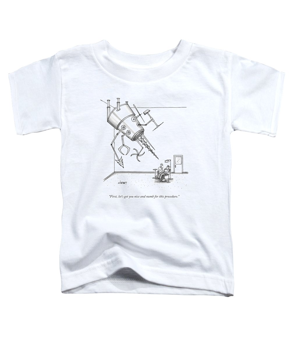 Dentist Toddler T-Shirt featuring the drawing At A Dentist's Office by Tom Cheney