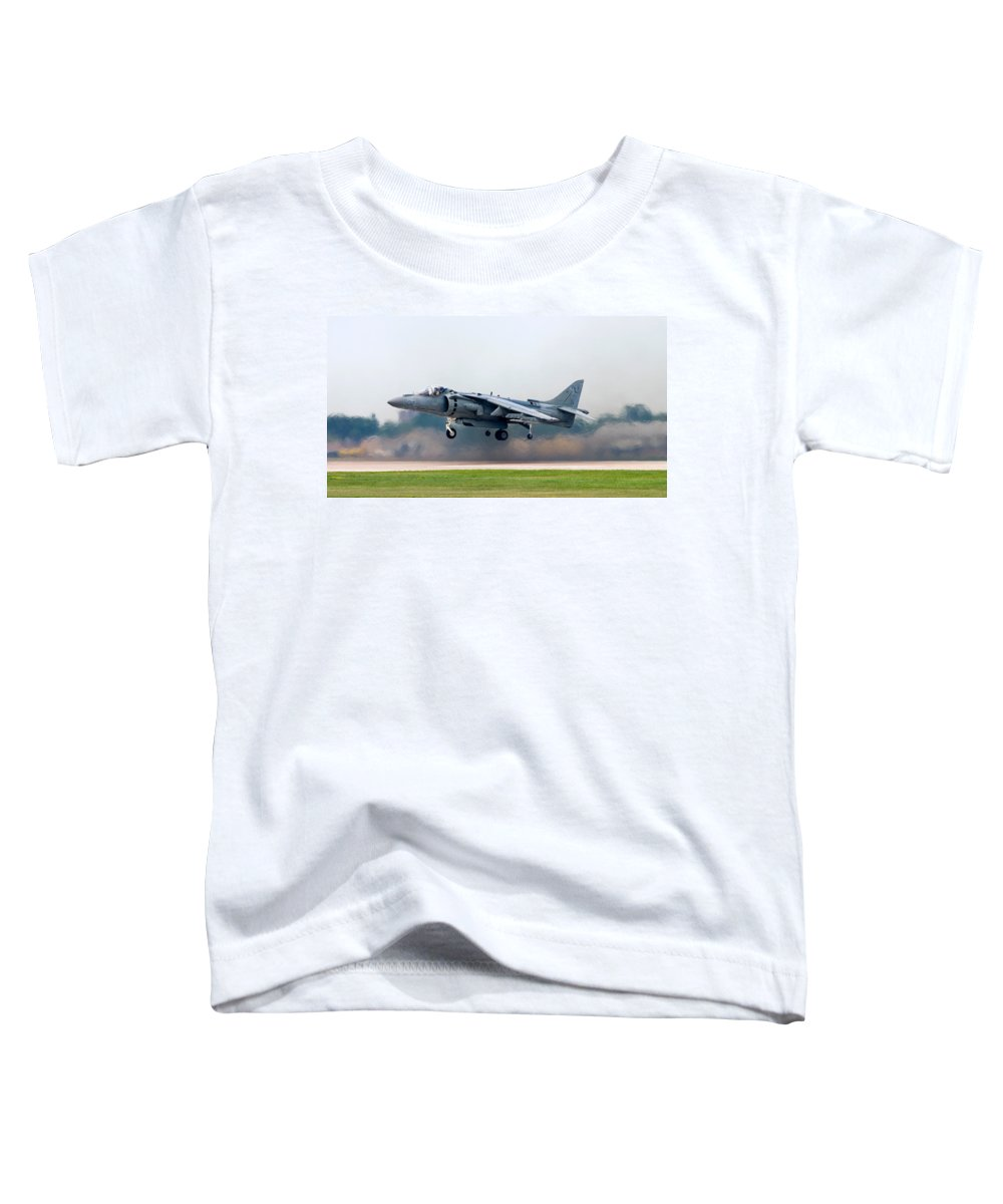 3scape Photos Toddler T-Shirt featuring the photograph Av-8b Harrier by Adam Romanowicz